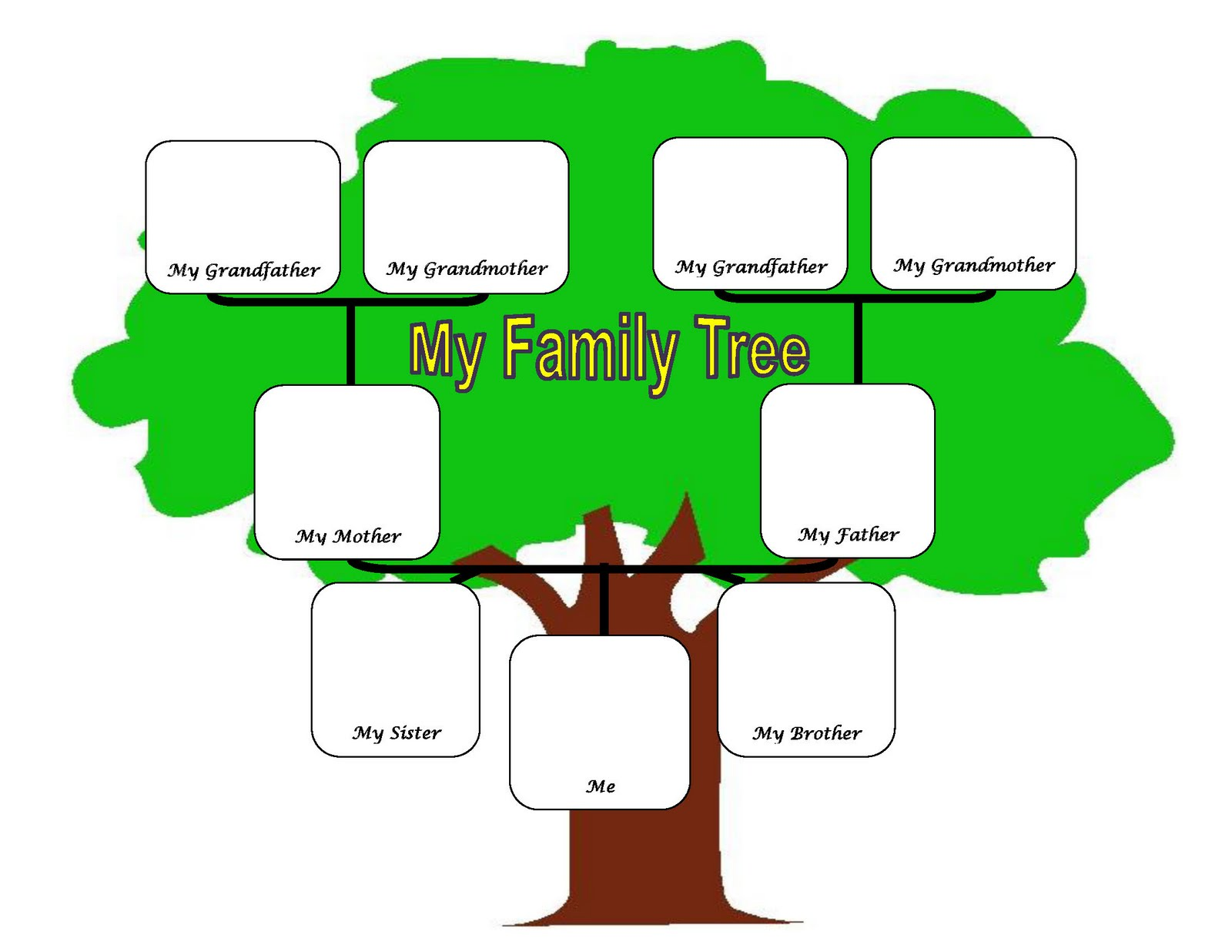 My Family Tree Clipart - Clipart Kid