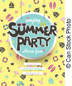 Enjoy Summer Party Poster   Lovely Enjoy Summer Party Poster