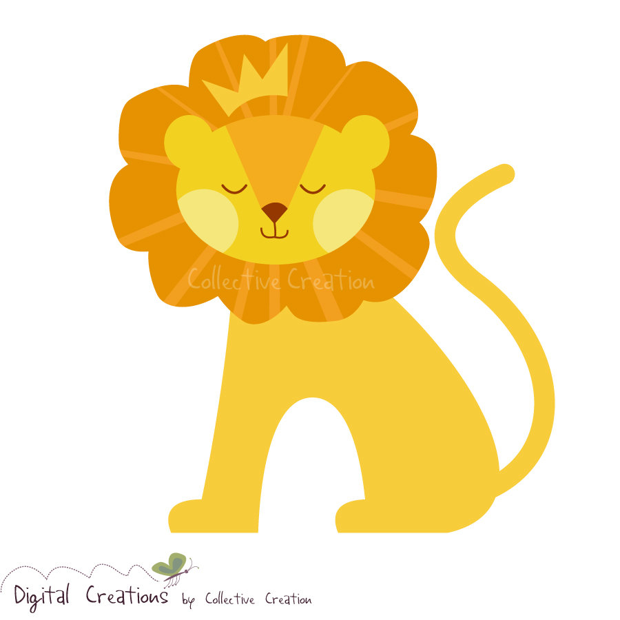 King Of The Jungle Cute Lion Digital By Collectivecreation
