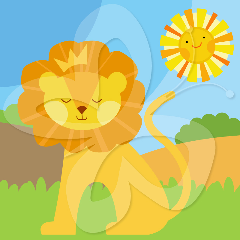 King Of The Jungle Lion   Creative Clipart Collection
