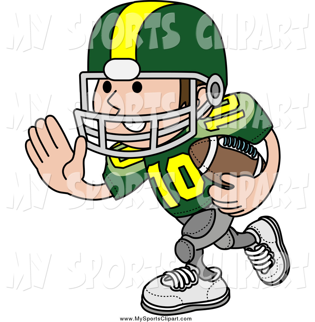 Larger Preview  Sports Clip Art Of A White Football Player Athlete In