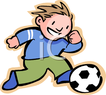 Royalty Free Clipart Of Soccer 350x314px Football Picture
