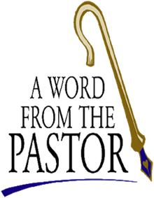 A Word From Our Pastor Clip Art
