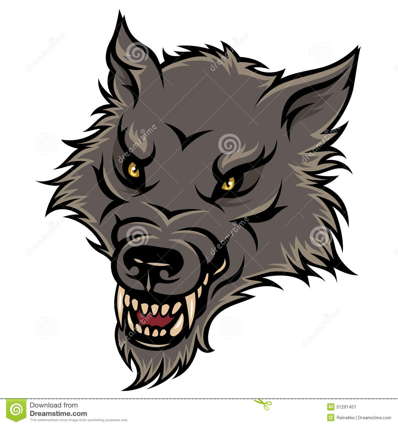 Angry Wolf Clipart - Clipart Suggest