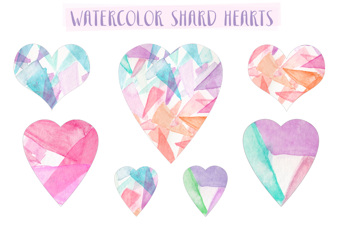 Be The First To Review  Watercolor Shard Hearts  Cancel Reply