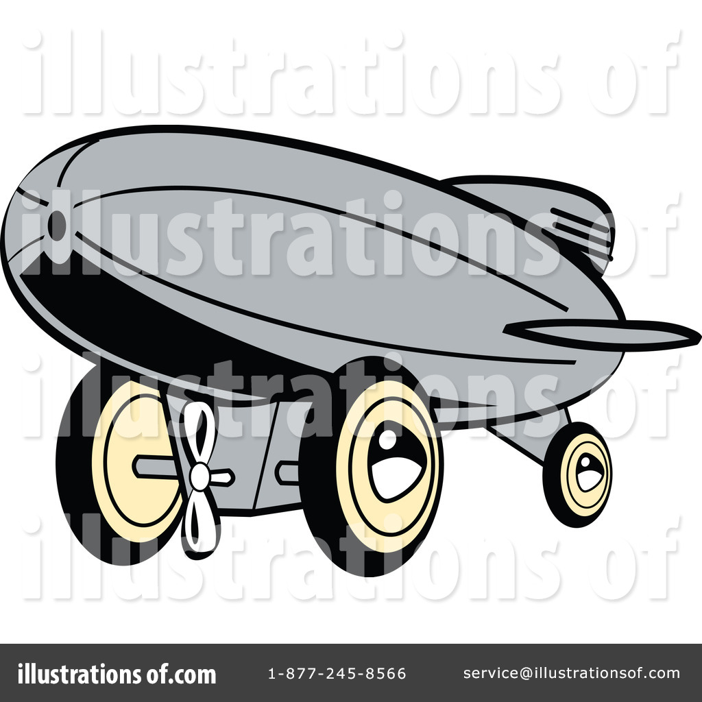 Blimp Clipart  100680 By Andy Nortnik   Royalty Free  Rf  Stock