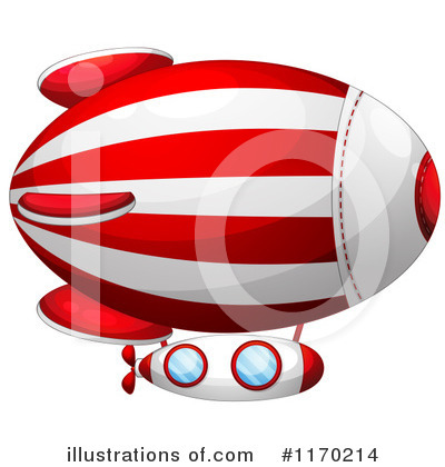 Blimp Clipart  1170214 By Colematt   Royalty Free  Rf  Stock