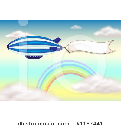 Blimp Clipart  1187441 By Colematt   Royalty Free  Rf  Stock