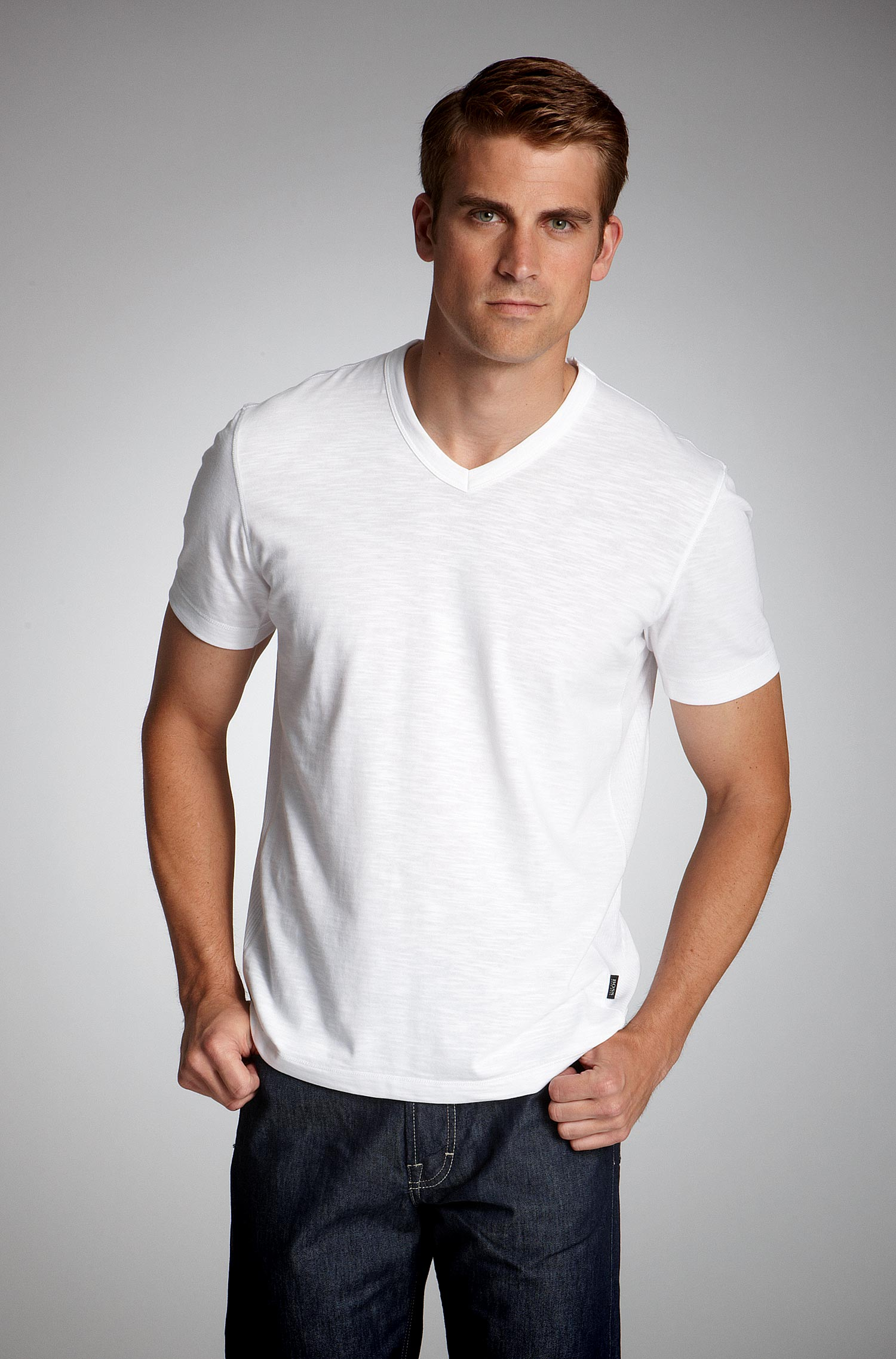 Boss Black Contemporary V Neck T Shirt   Men S Fashion