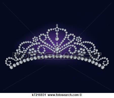 Diamond Tiara   Vector Illustration View Large Clip Art Graphic