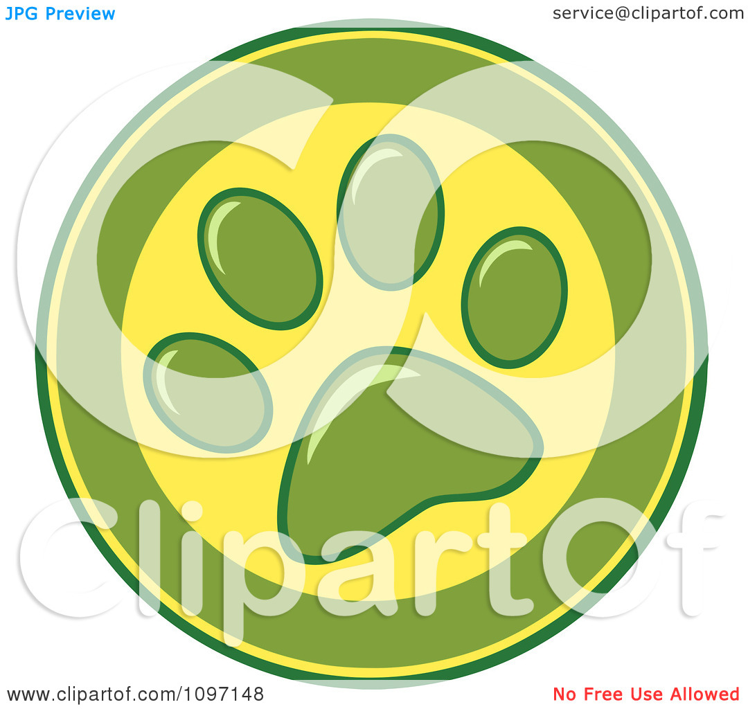 Free Vector Clip Art Illustration Of A Dog Bone And Paw Print Frame