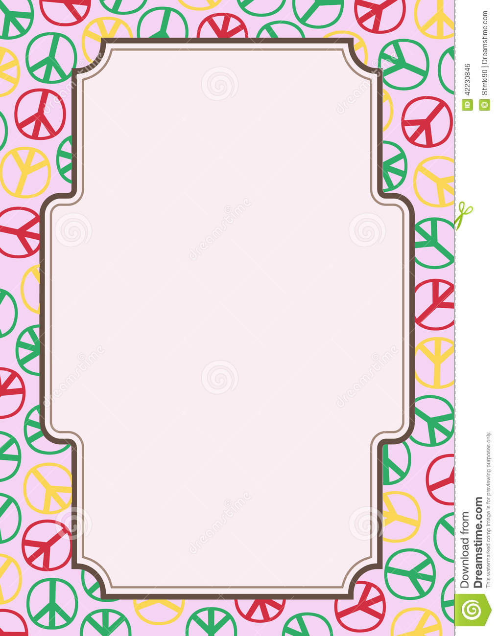Hippie Frame    Ign Of Peace And Pacifism Symbol Of The Hippie
