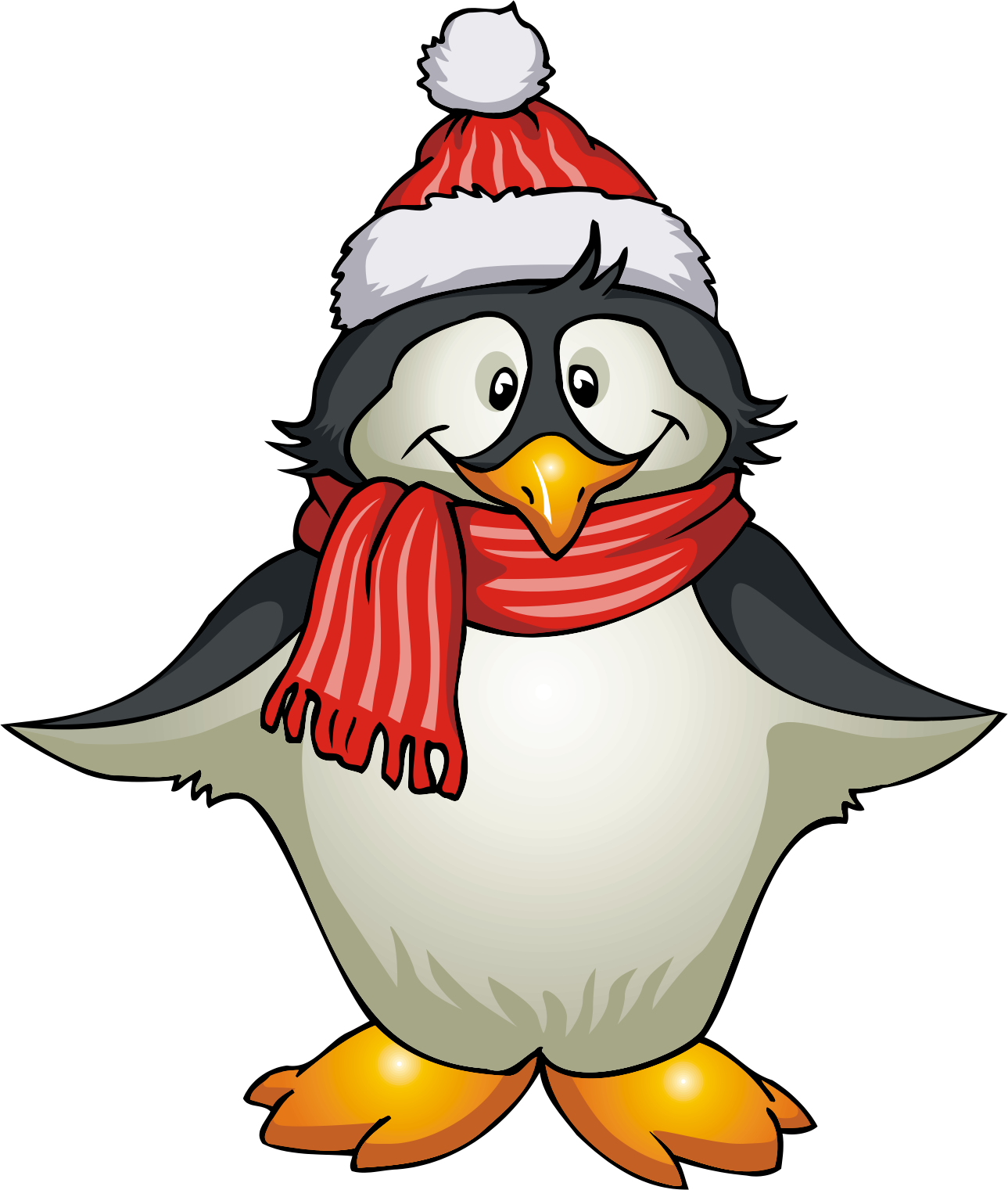 Holiday Penguin Clipart - Clipart Kid