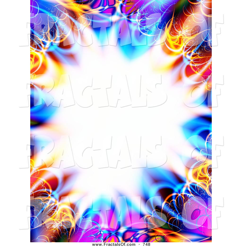 Larger Preview  Stock Illustration Of A Colorful Fractal Design Border