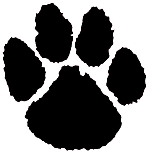 panther paw backgrounds clipart clipart suggest