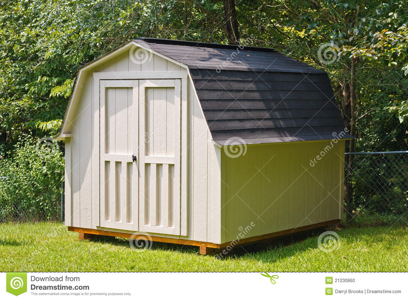 Backyard Shed Stock Photo   Image  21230860