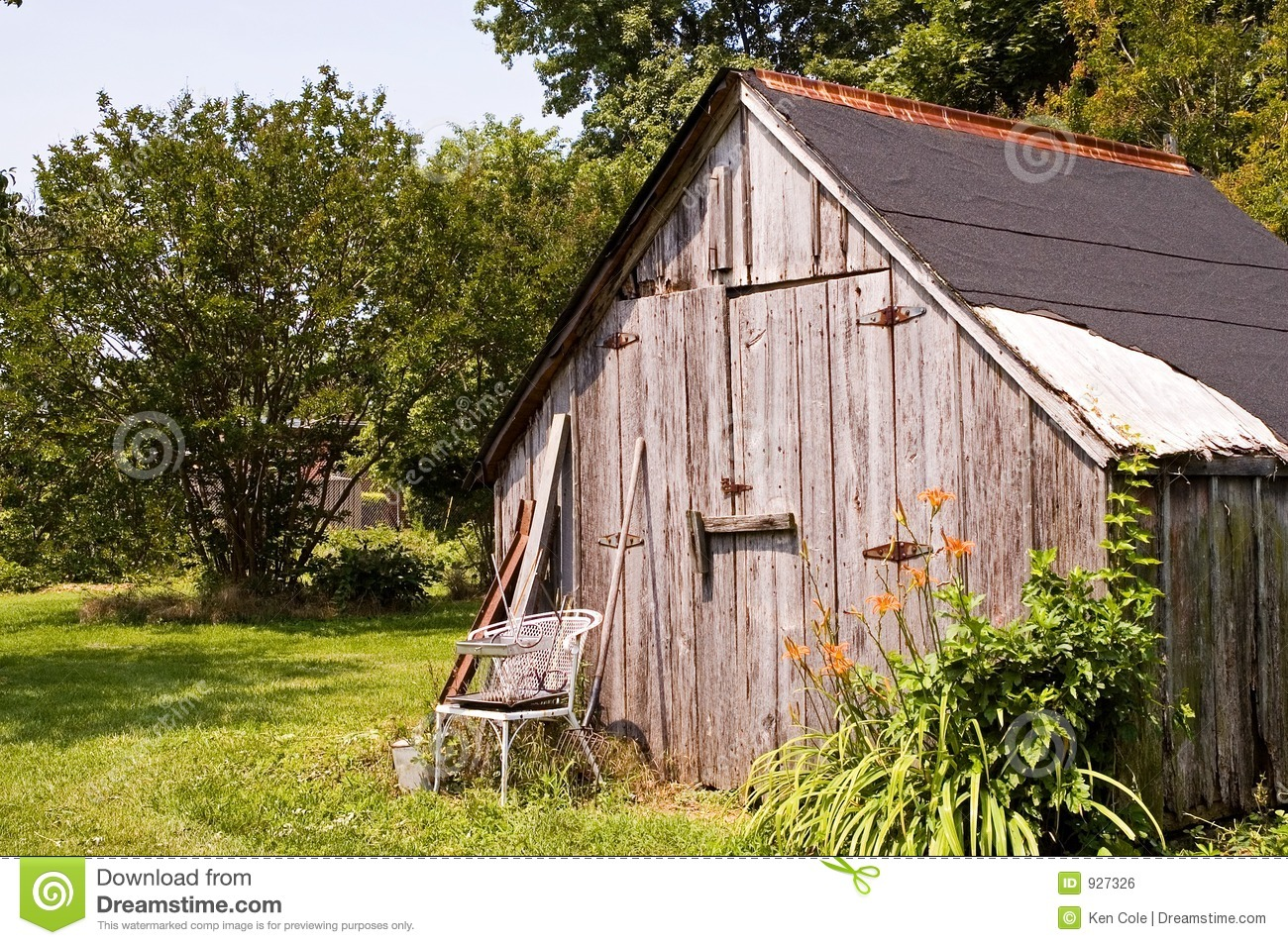 Backyard Tool Storage Shed Royalty Free Stock Image   Image  927326