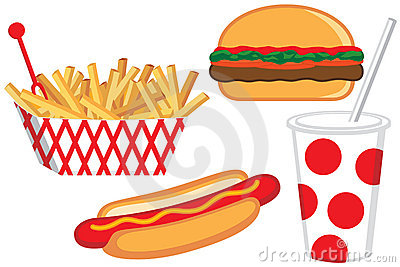 Carnival Food Clipart Fast Food Illustration Stock