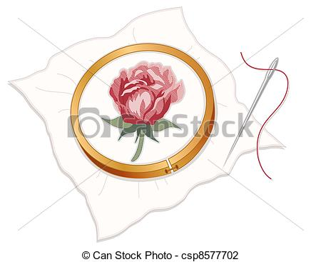 Embroidery Hoop With    Csp8577702   Search Clipart Illustration