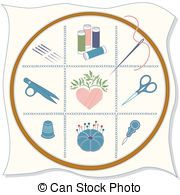 Embroidery Illustrations And Clipart  18413 Embroidery Royalty Free