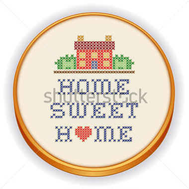 Home With A Big Heart Embroidery Decorative Cross Stitch Needlework