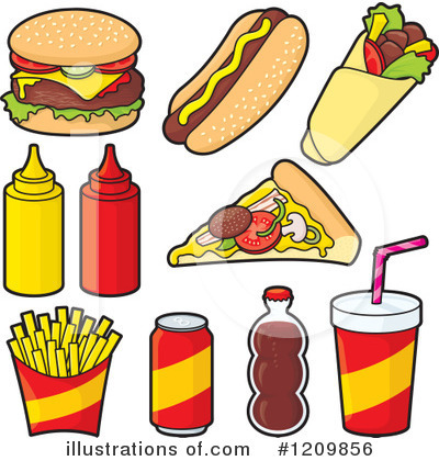 Royalty Free  Rf  Fast Food Clipart Illustration By Any Vector   Stock