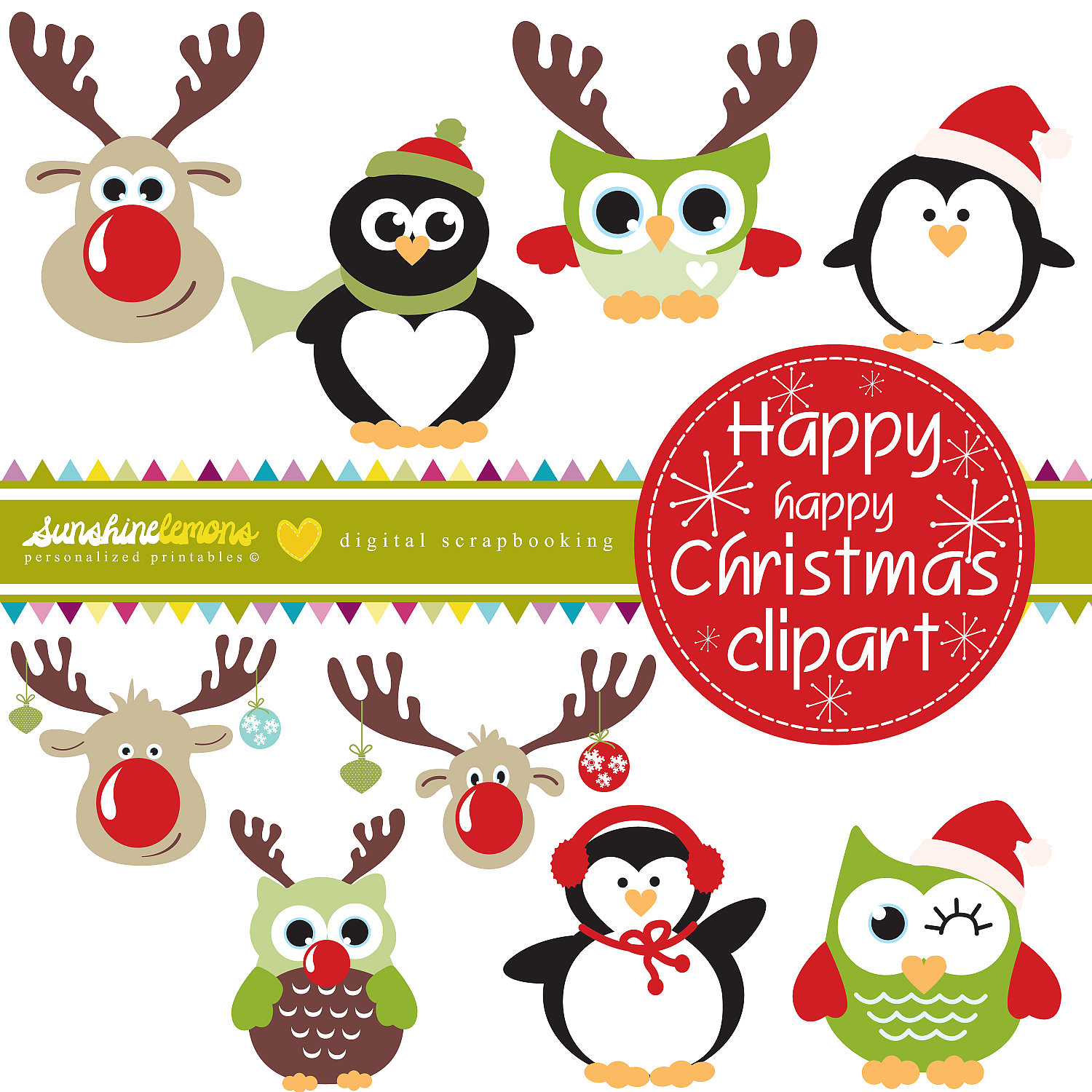Merry Christmas Owl Clipart - Clipart Kid