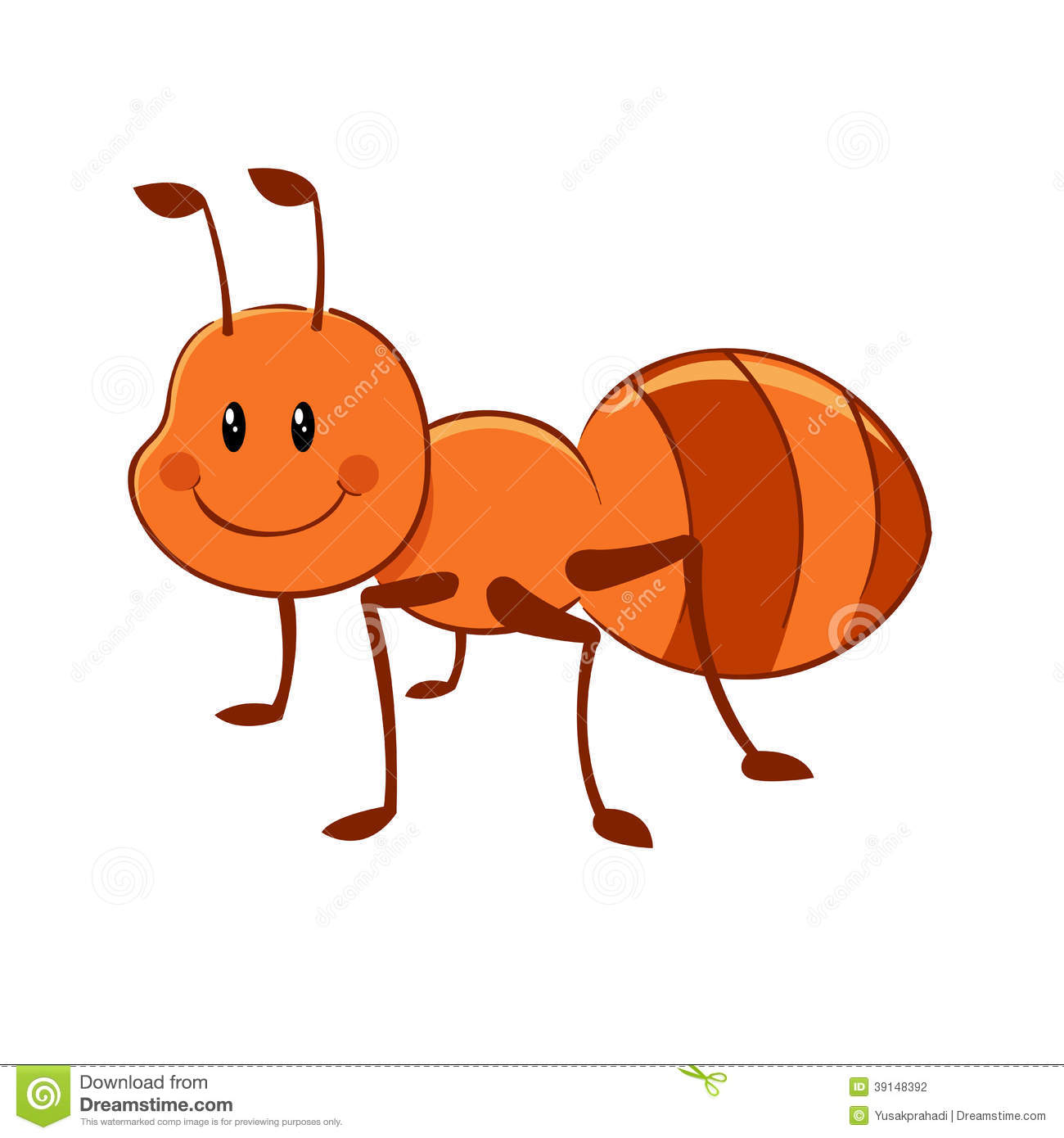 Ant Cartoon Stock Vector   Image  39148392