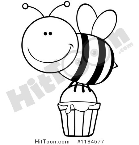 Honey Bee Black And White Clipart - Clipart Kid
