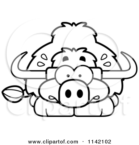 Yak clipart black and white - photo#25