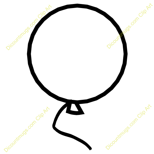 Clipart 11950 Big Round Balloon   Big Round Balloon Mugs T Shirts