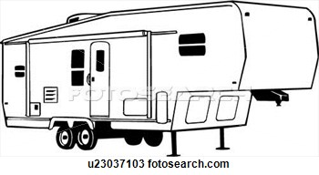 Clipart    Camper Fifth Recreation Recreational Rv Vehicle
