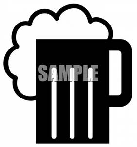 Clipart Of A Beer Foaming Over A Mug