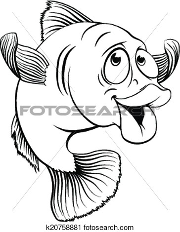 Cod Fish Cartoon View Large Clip Art Graphic