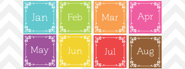 Free Vector Month And Day Clip Art Set From Sonya Dehart Design
