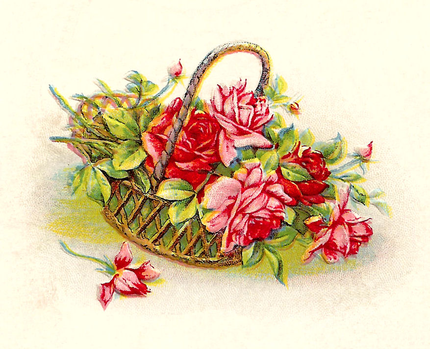 Is A Pretty Piece Of Flower Clip Art Of Red And Pink Roses This Flower