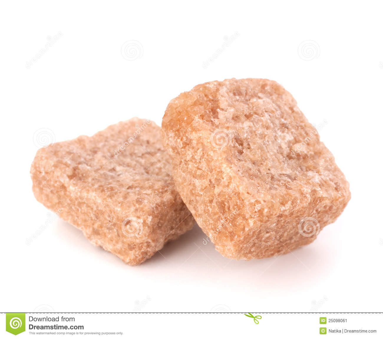 Lump Brown Cane Sugar Cubes Stock Image   Image  25098061