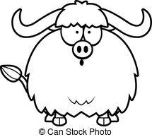 Yak Clipart Black And White Surprised Cartoon Yak Clipart #FwfT7U ...