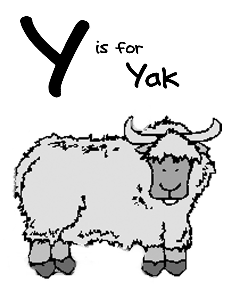 Yak clipart black and white - photo#12