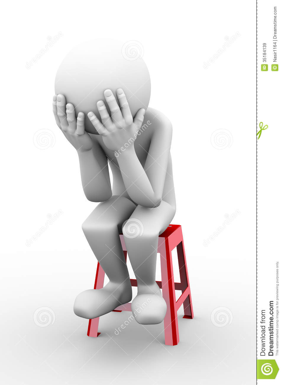 3d Sad Frustrated Man Illustration Royalty Free Stock Images   Image