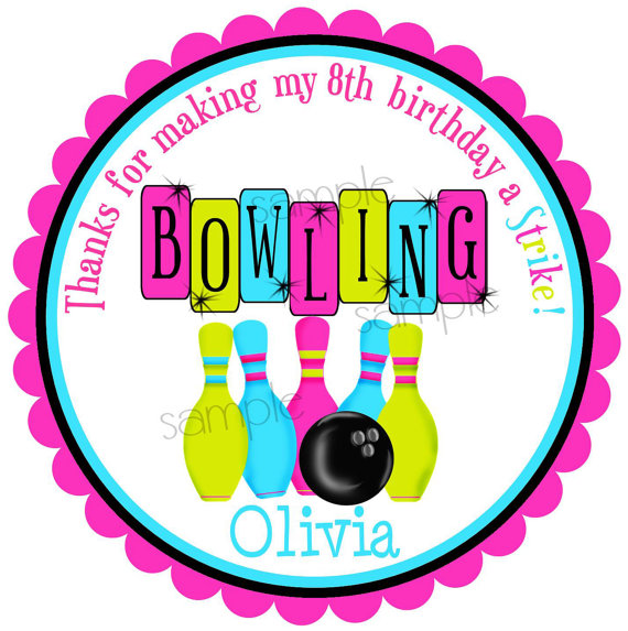 Bowling Stickers Bowling Birthday Party Cosmic Bowling