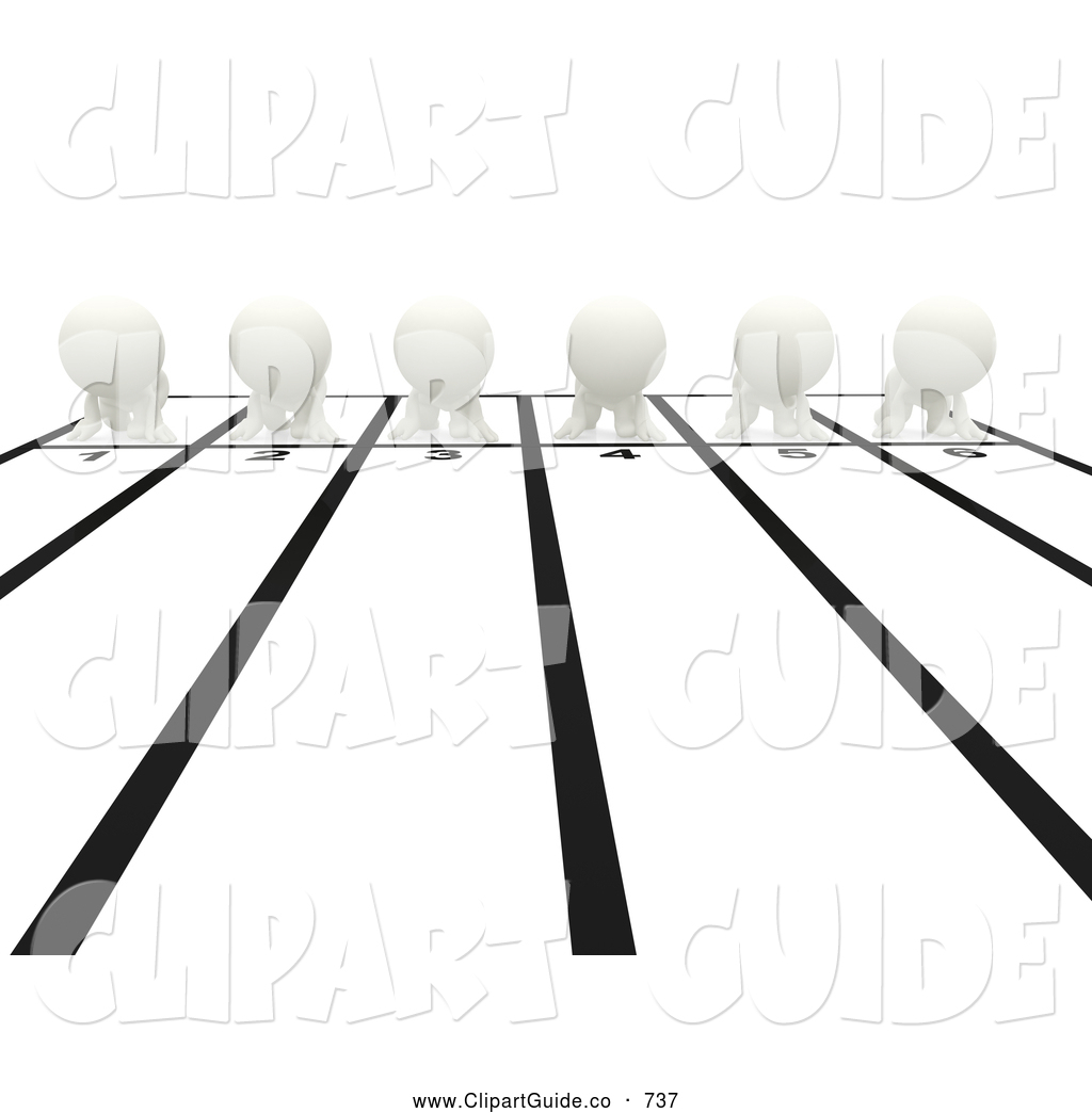 Clipart Race Track Clip Art Of A 3d People Lining