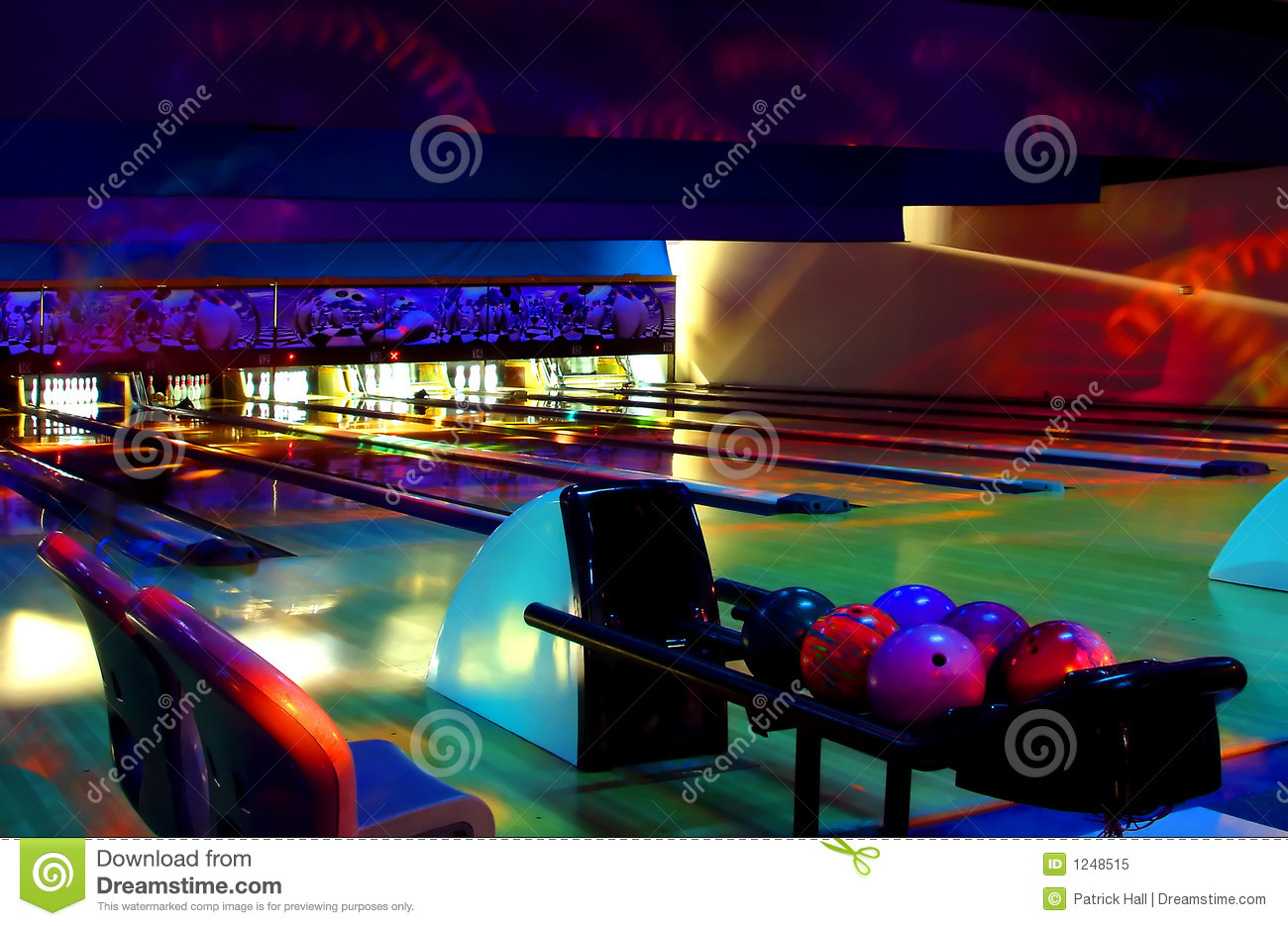 Cosmic Bowling Royalty Free Stock Photo   Image  1248515