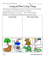 Printables Living Vs Nonliving Worksheet living vs nonliving worksheet syndeomedia
