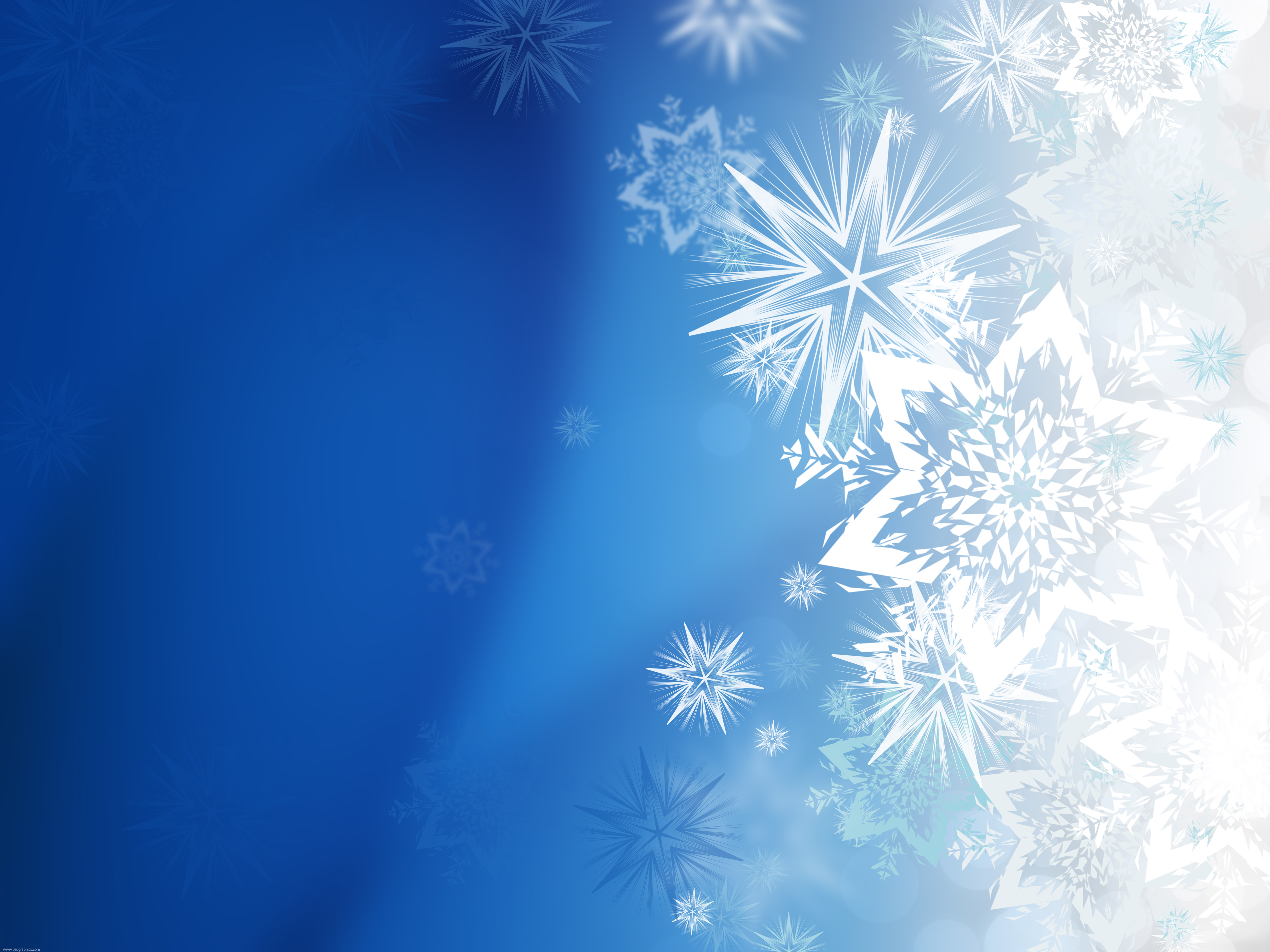 Magic Winter Snowflakes   Psdgraphics
