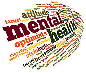 Mental Health In Word Tag Cloud   Royalty Free Clip Art