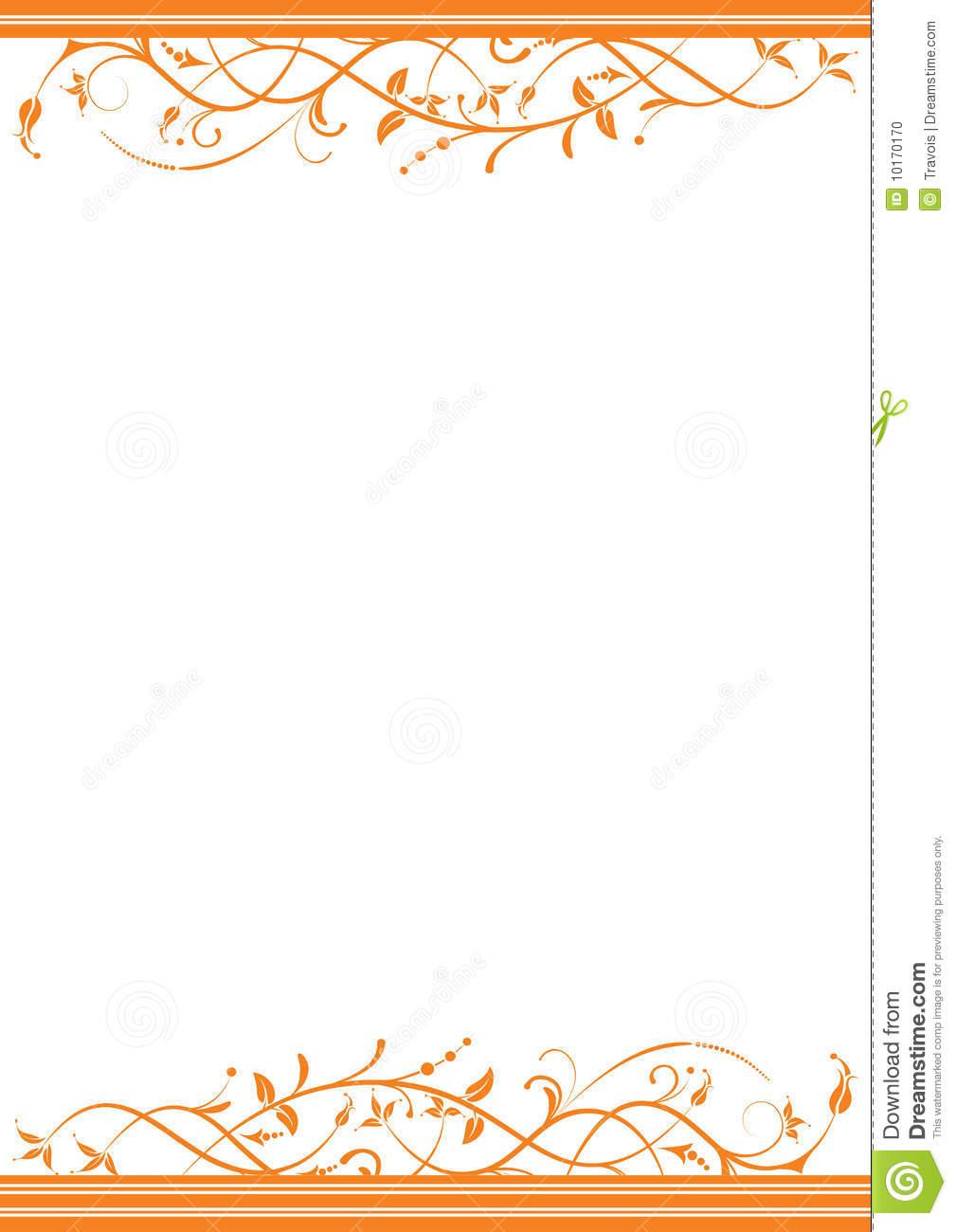 Orange Border Cliparts on Scalloped Page Border