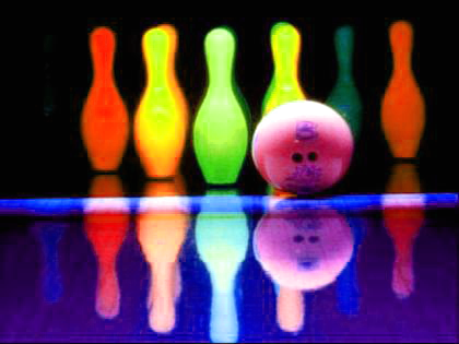 Pictures Glow In The Dark Bowling Activity Neon Birthday Party Ideas