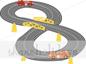 Race Car Track Clipart   Party Clipart   Backgrounds