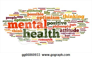 Stock Illustration   Mental Health In Word Tag Cloud  Clipart Drawing